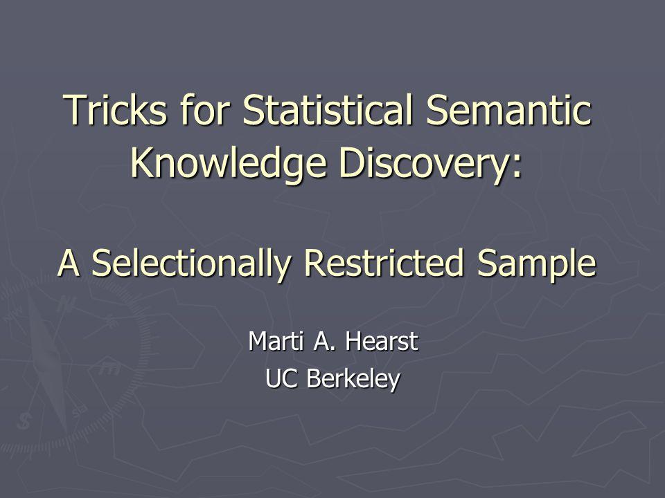 Acquire Semantic Information Goal: