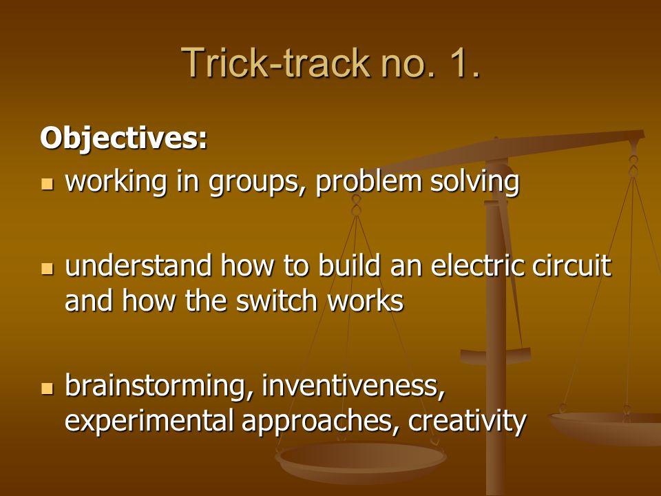 Trick-track no. 1.