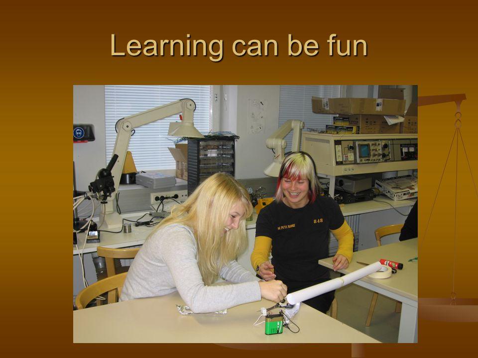 Learning can be fun
