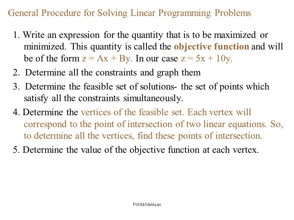 FM/04/Melikyan General Procedure for Solving Linear Programming Problems 1.