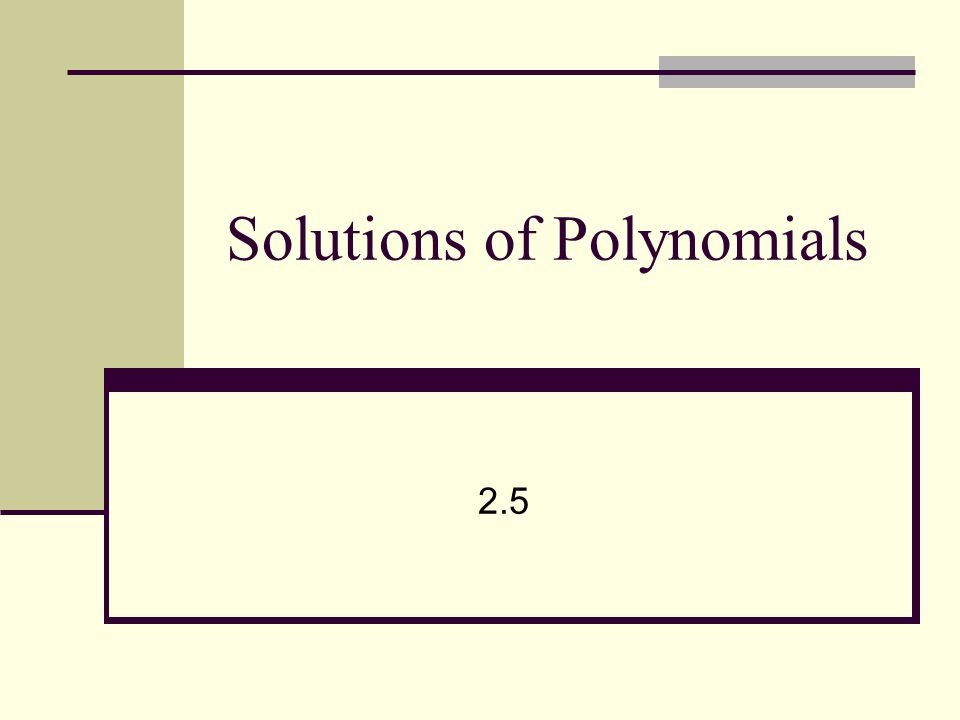 Warm-up If one solution to a polynomial is –4 + 2i what is another solution.
