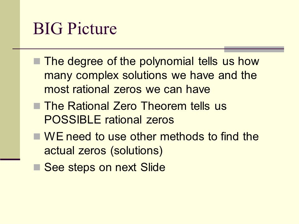 Solutions of Polynomials 2.5