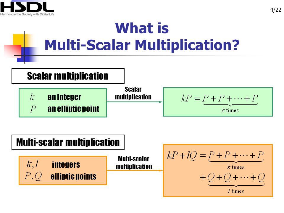 4/22 What is Multi-Scalar Multiplication.