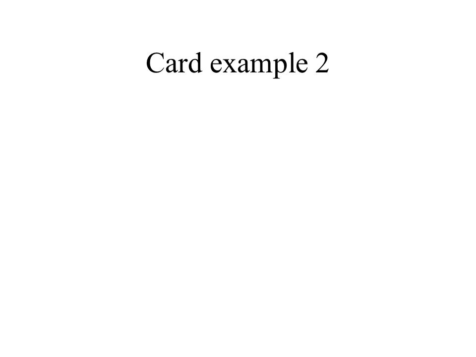 Card example 2