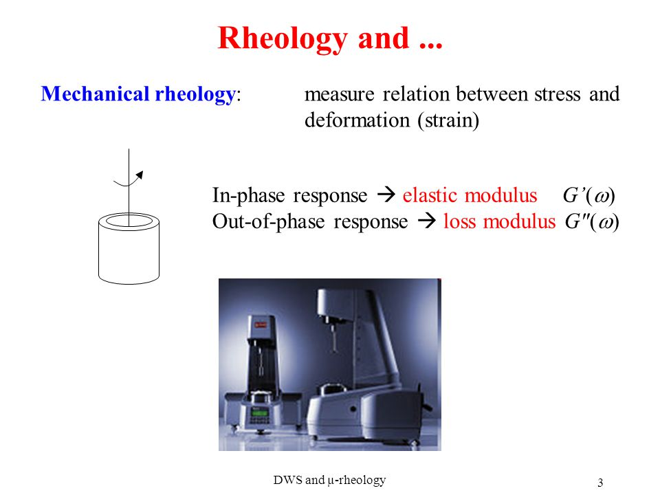 DWS and µ-rheology 3 Rheology and...