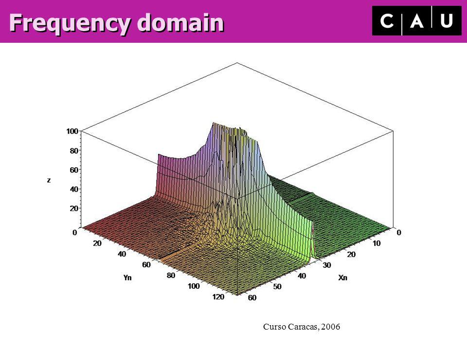 Curso Caracas, 2006 Frequency domain