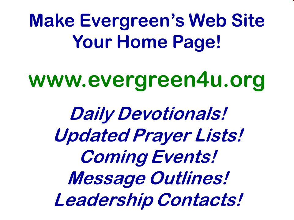 A View From The Mountaintop Sabbatical Reflections Make Evergreen's Web Site Your Home Page.