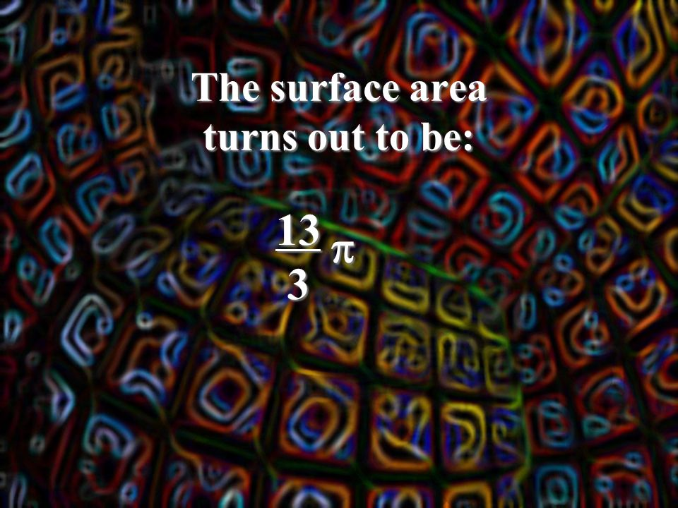 The surface area turns out to be: 133 