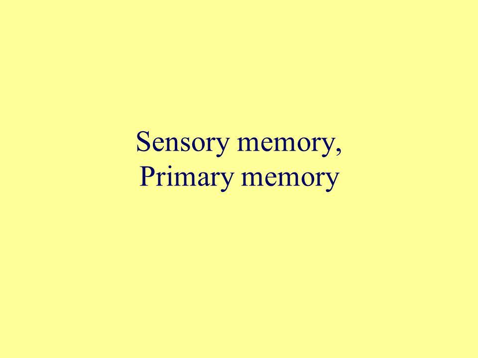 Sensory memory, Primary memory