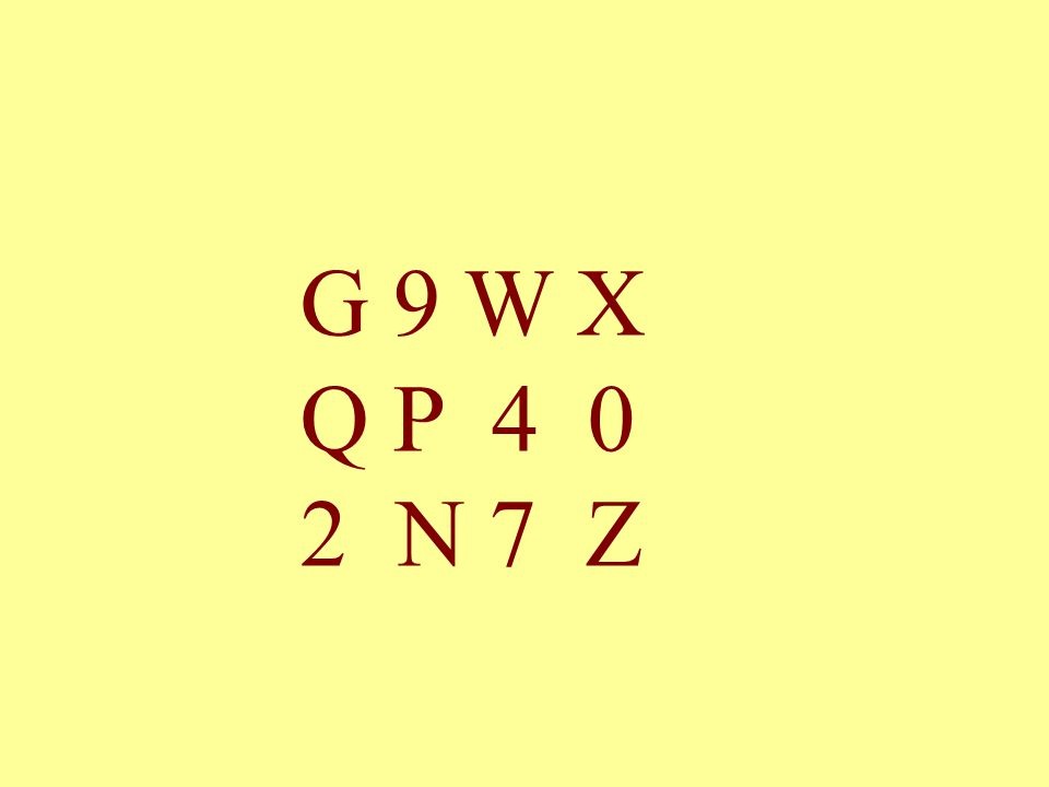 G 9 W X Q P 4 0 2 N 7 Z