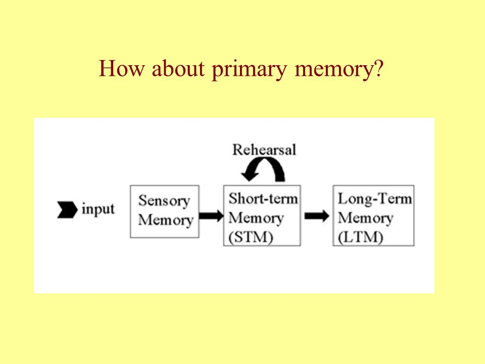 How about primary memory