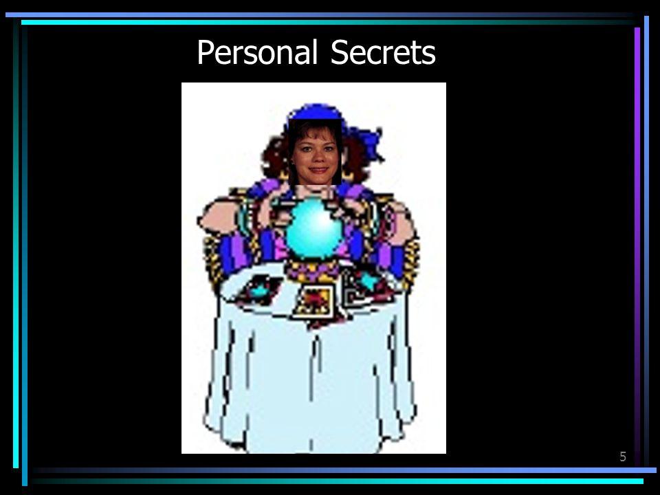 5 Personal Secrets