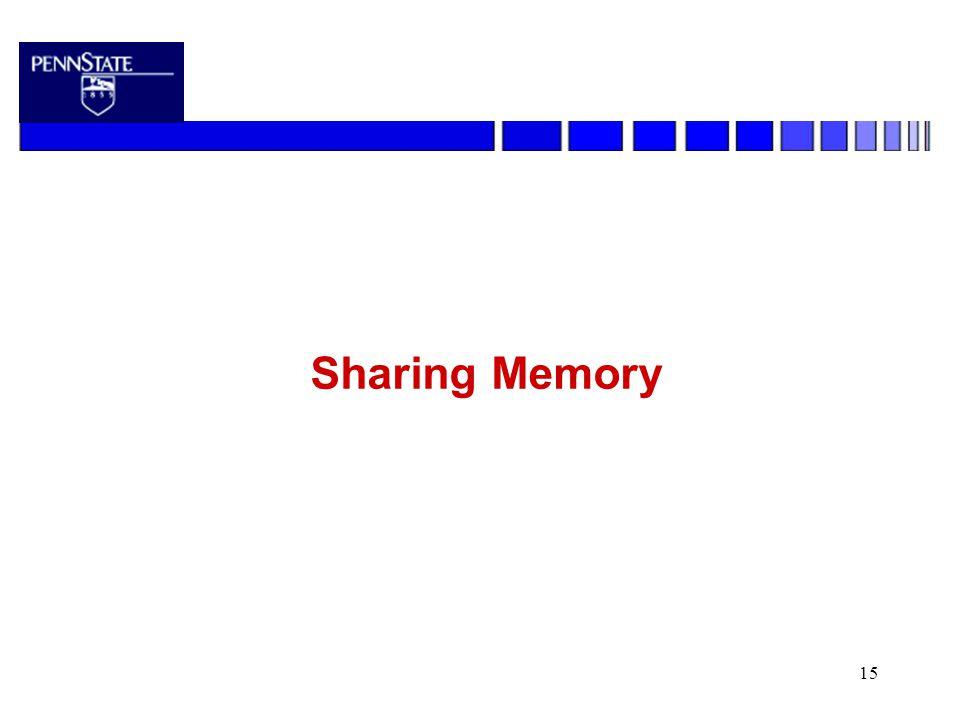 15 Sharing Memory