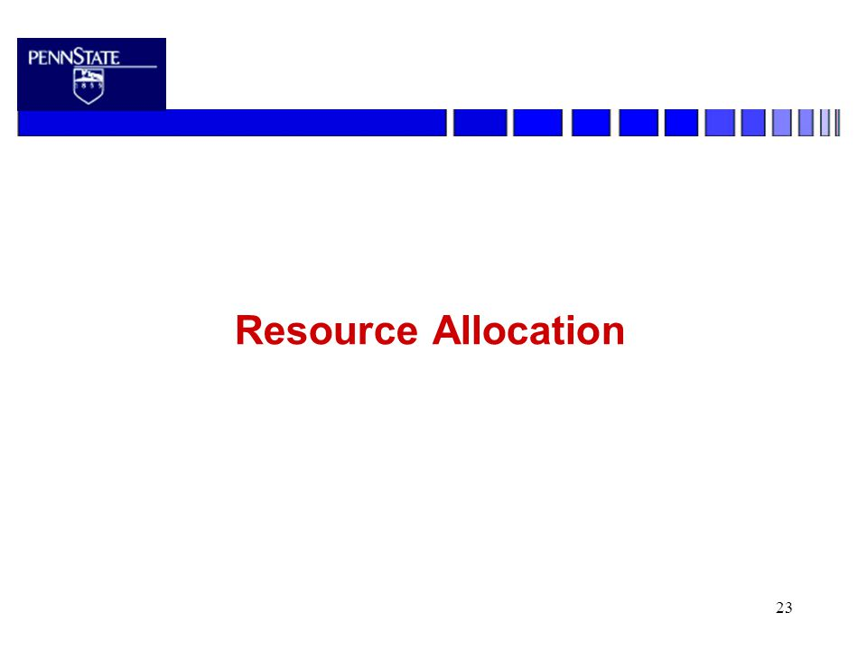 23 Resource Allocation
