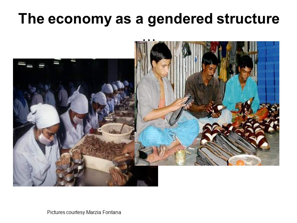 The economy as a gendered structure … Pictures courtesy Marzia Fontana