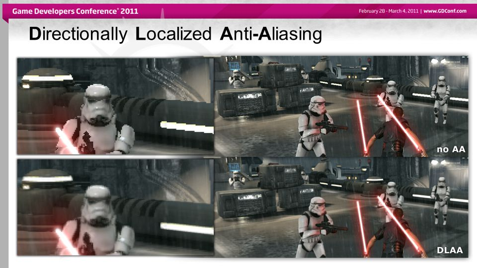 Directionally Localized Anti-Aliasing