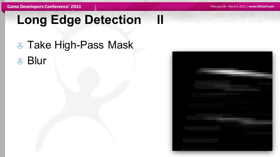 Long Edge DetectionII  Take High-Pass Mask  Blur