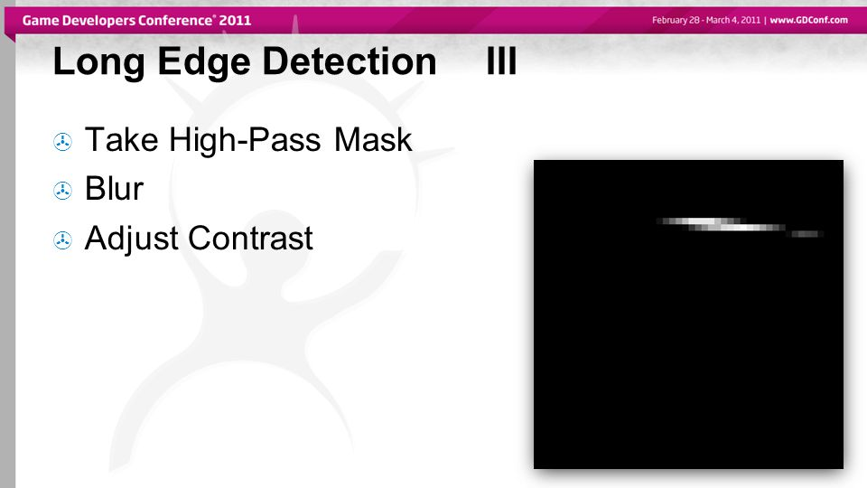 Long Edge DetectionIII  Take High-Pass Mask  Blur  Adjust Contrast