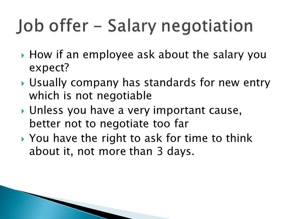  How if an employee ask about the salary you expect.