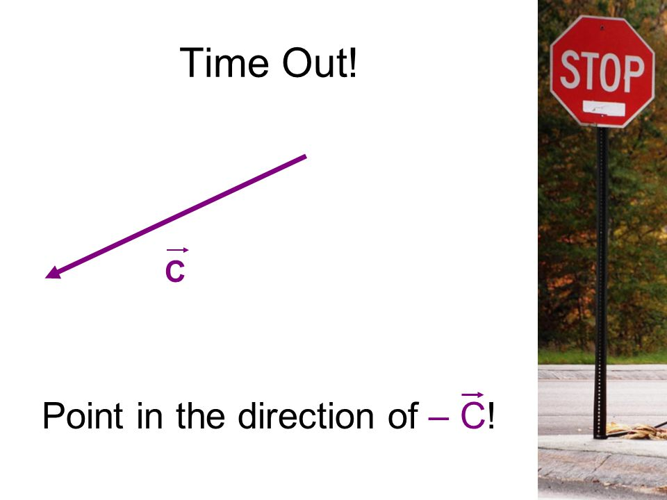 Time Out! C Point in the direction of – C!