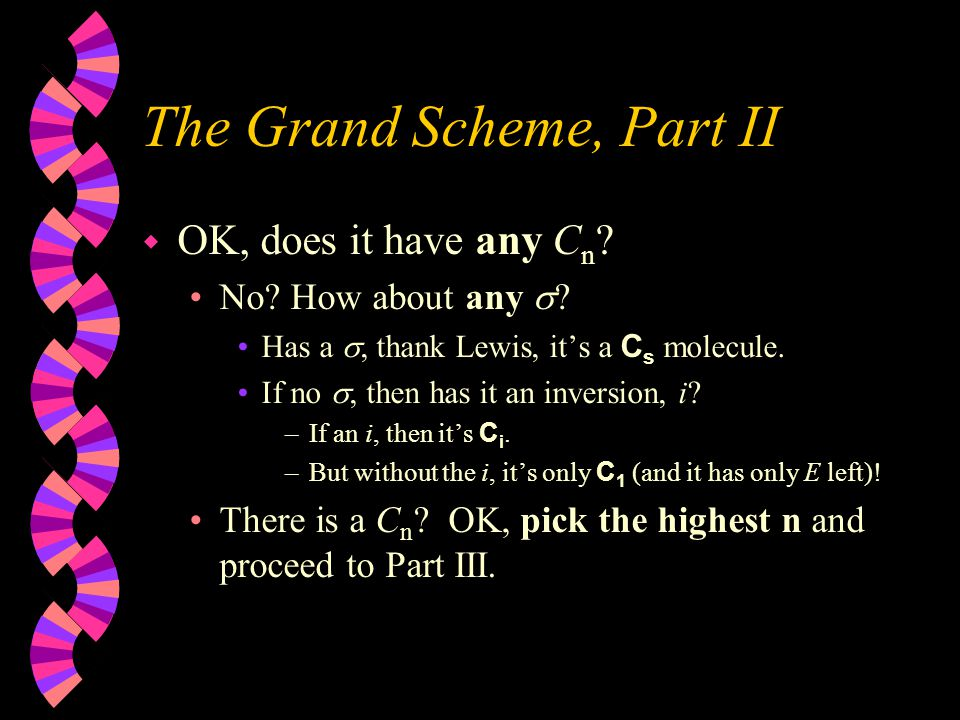 The Grand Scheme, Part I w Is the molecule linear.