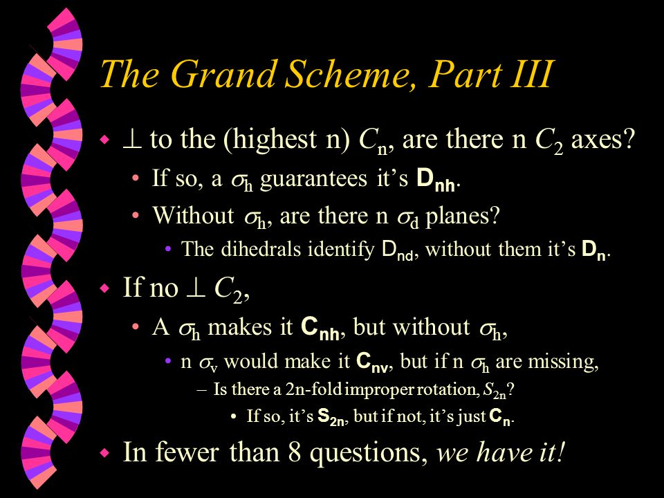 The Grand Scheme, Part II w OK, does it have any C n .