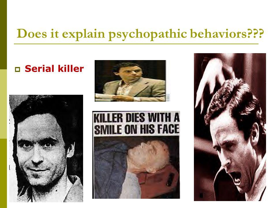 Does it explain psychopathic behaviors???  Serial killer