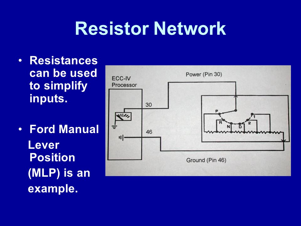 Resistor Network Resistances can be used to simplify inputs.