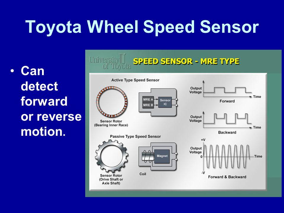 Toyota Wheel Speed Sensor Can detect forward or reverse motion.