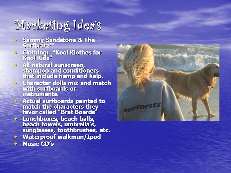 "Marketing Idea's Sammy Sandstone & The Surfbratz™ Sammy Sandstone & The Surfbratz™ Clothing: ""Kool Klothes for Kool Kids"" Clothing: ""Kool Klothes for"