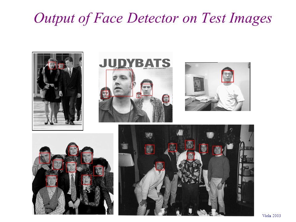 Viola 2003 Output of Face Detector on Test Images