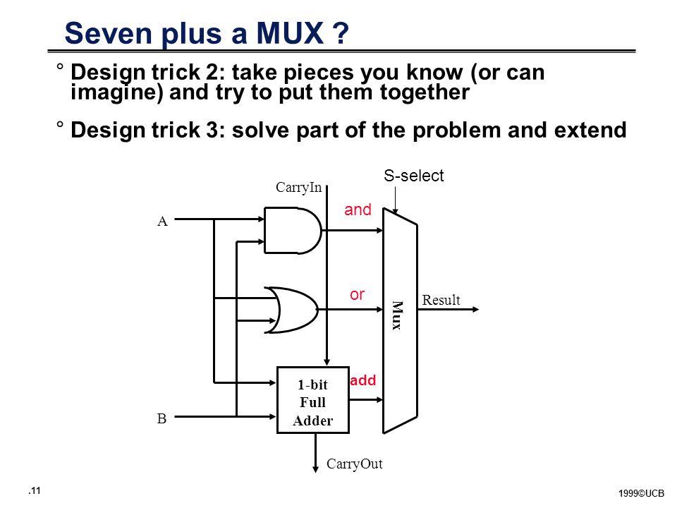 .11 1999©UCB Seven plus a MUX .