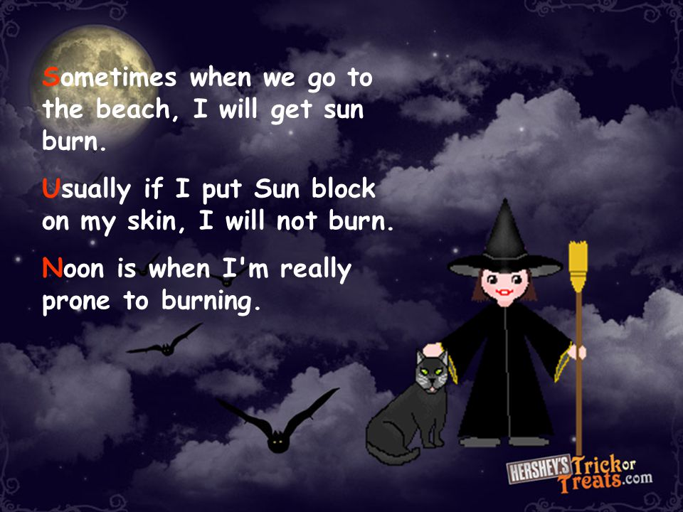 Halloween Acrostic Poem An acrostic poem is one where you choose a word or name and use each letter in the name as the beginning of a word or line tha