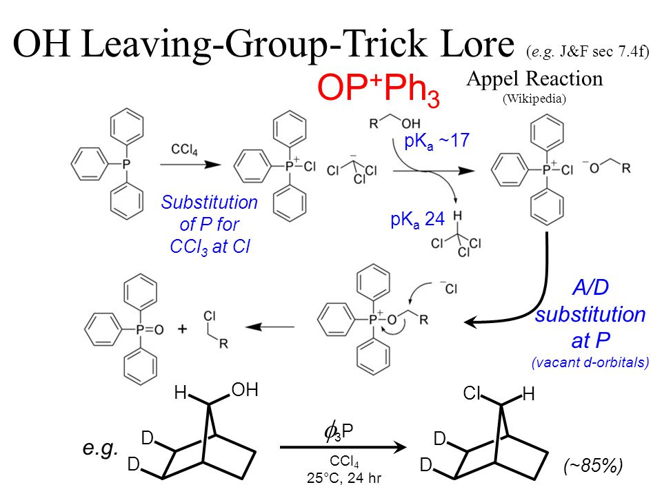 OP + Ph 3 OH Leaving-Group-Trick Lore (e.g.