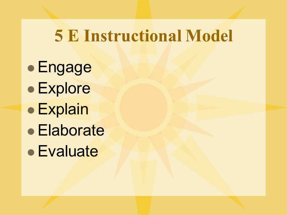 5 E Instructional Model Engage Explore Explain Elaborate Evaluate
