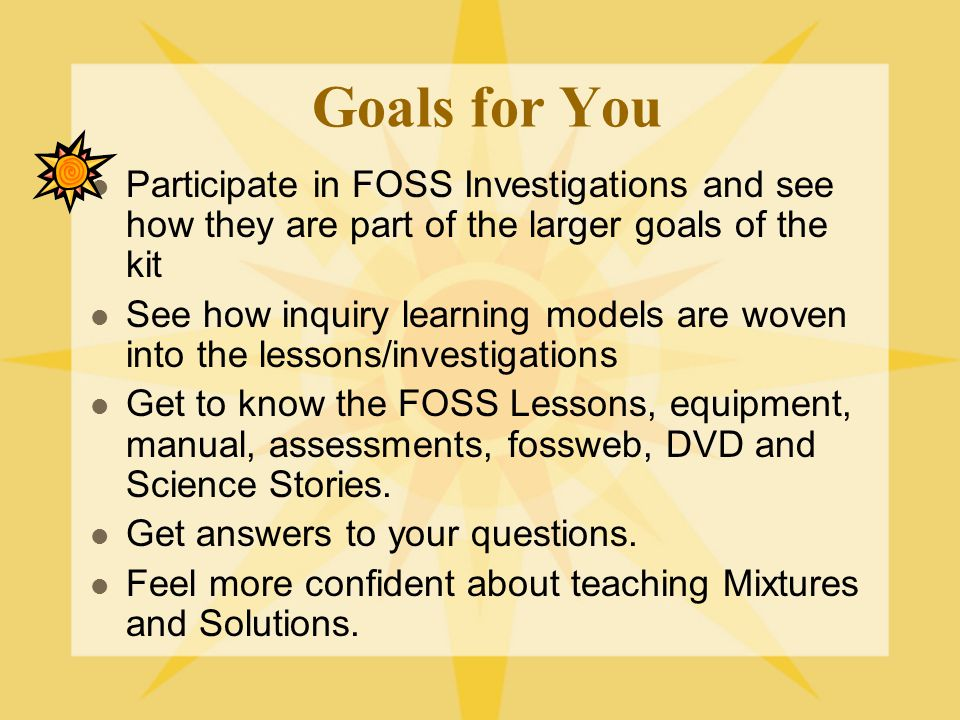 FOSS Program Components Teacher Guide Science Stories Kit and Materials Teacher Preparation Video FOSSWeb.com