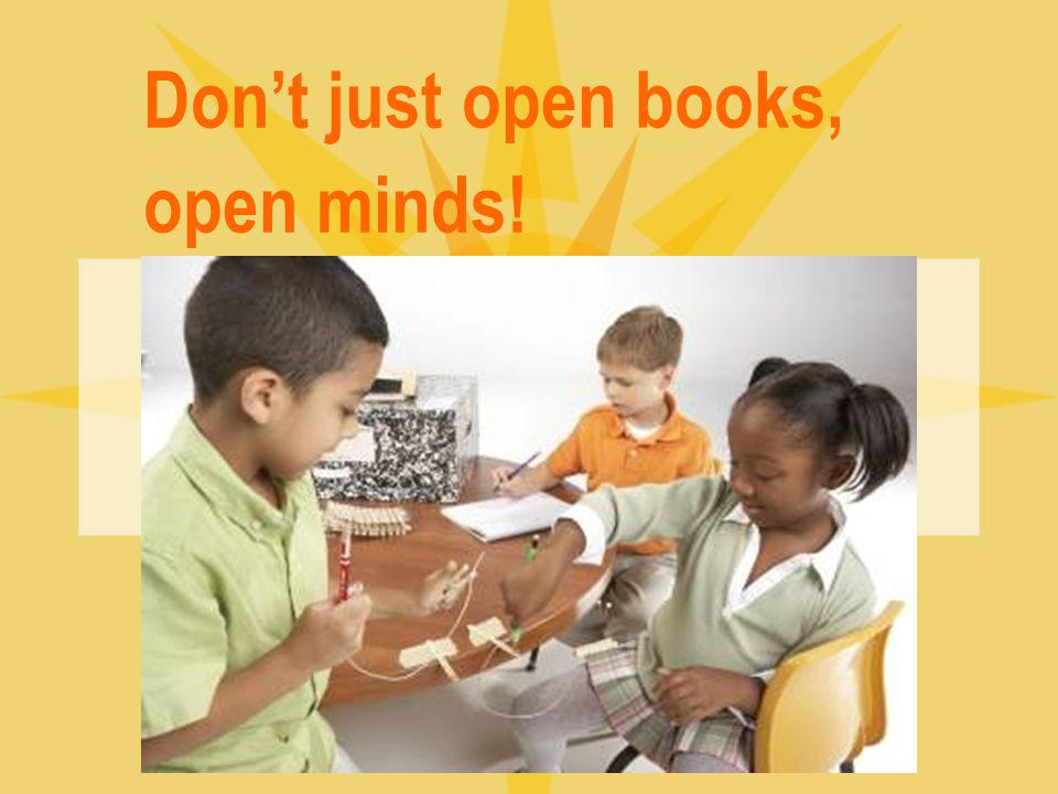Don't just open books, open minds!