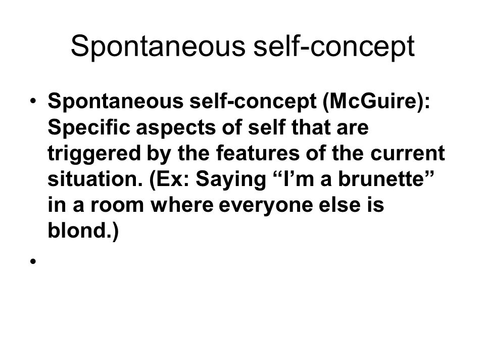 Self-awareness Theory Self-awareness theory (Duval & Wicklund): The theory that self-focused attention leads people to notice self- discrepancies, thereby motivating either an escape from self-awareness or a change in behavior.