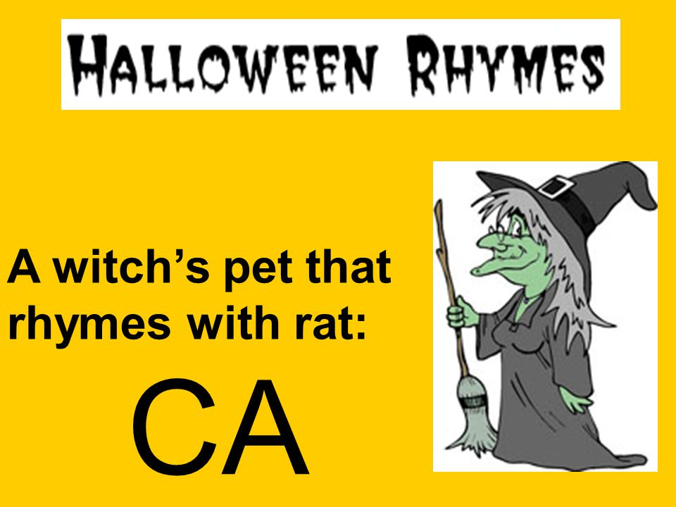 A witch's pet that rhymes with rat: CA T