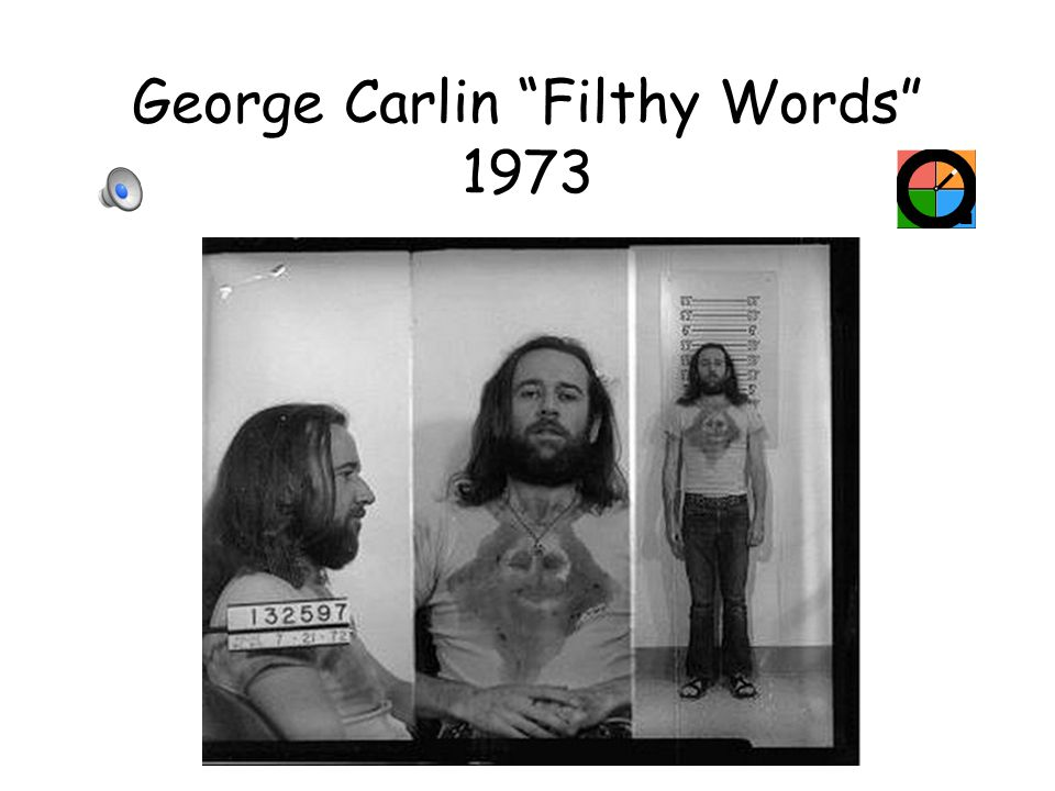 George Carlin Filthy Words 1973