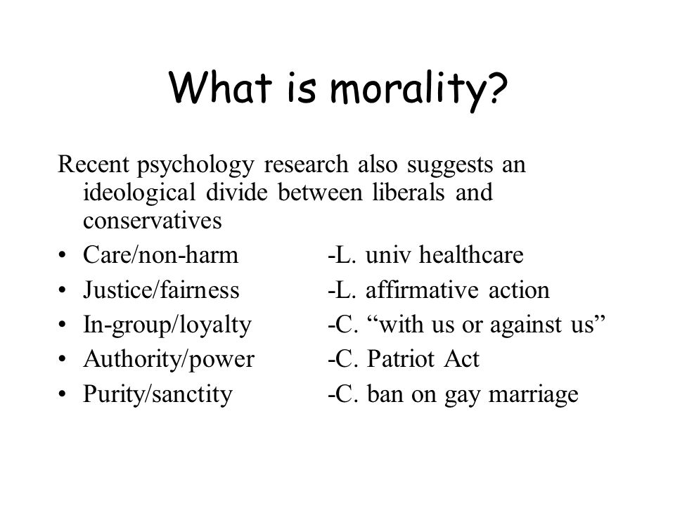 What is morality.