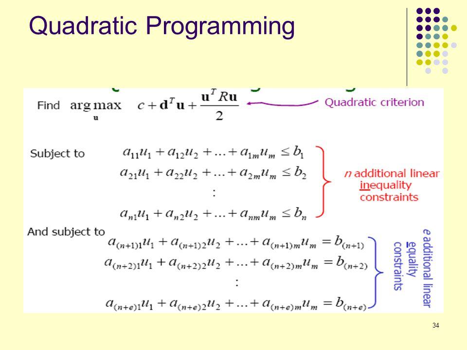 34 Quadratic Programming