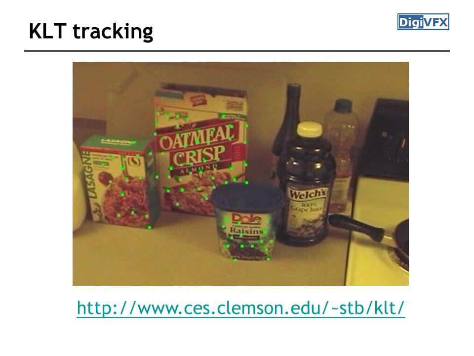 KLT tracking http://www.ces.clemson.edu/~stb/klt/