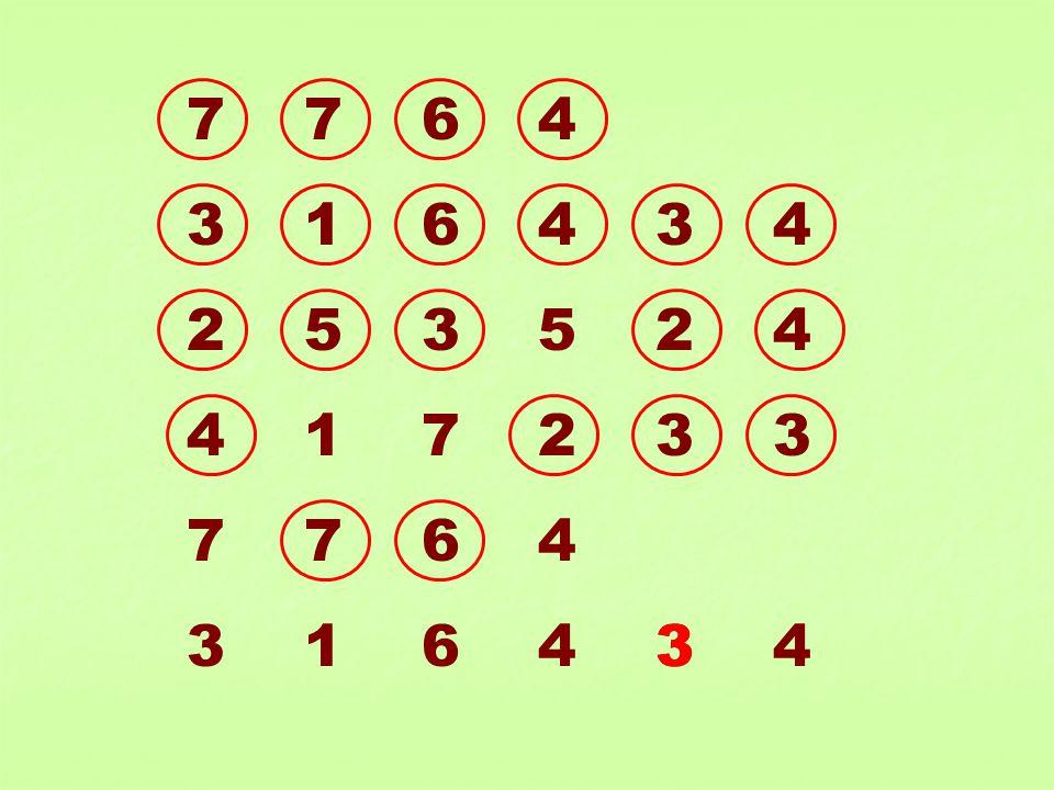7 7 6 4 3 1 6 4 3 4 2 5 3 5 2 4 4 1 7 2 3 3 7 7 6 4 3 1 6 4 3 4 3