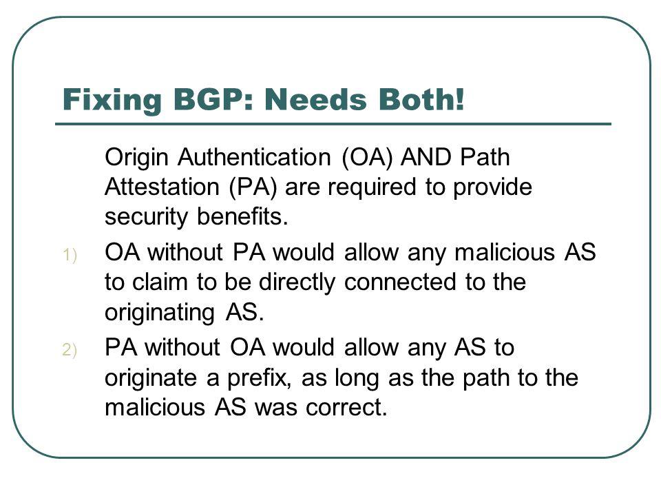 Fixing BGP: Needs Both.