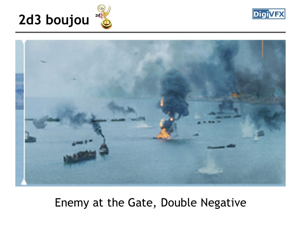 2d3 boujou Enemy at the Gate, Double Negative
