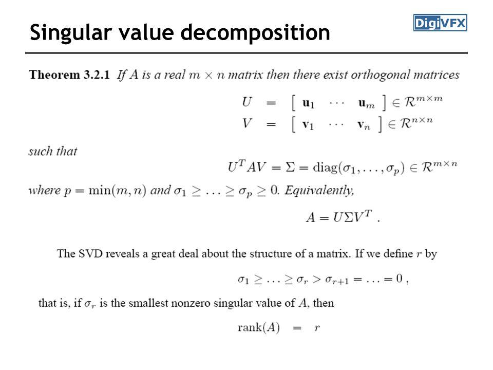 The fundamental matrix F Let M and M' be the intrinsic parameters, then fundamental matrix