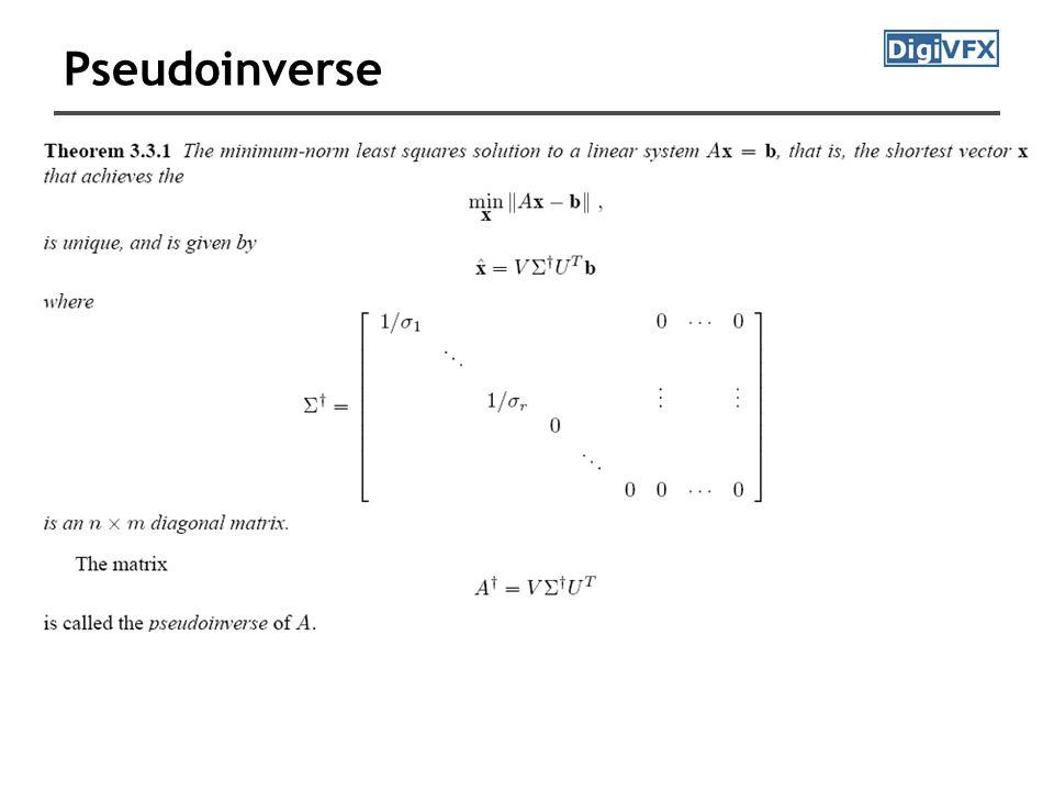 Pseudoinverse