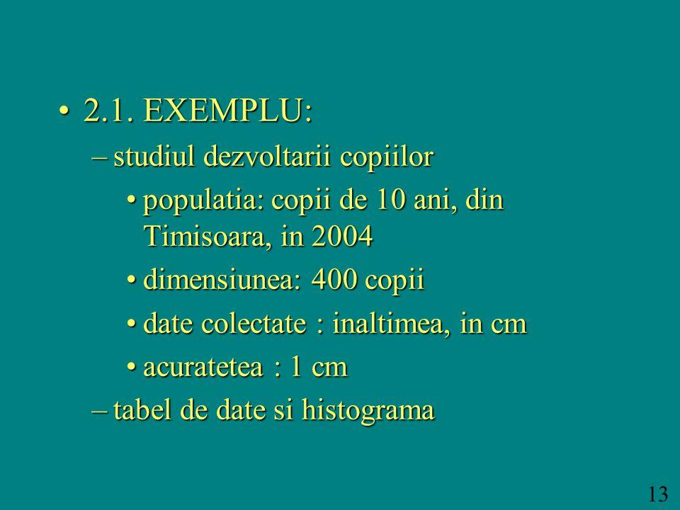 13 2.1. EXEMPLU:2.1.