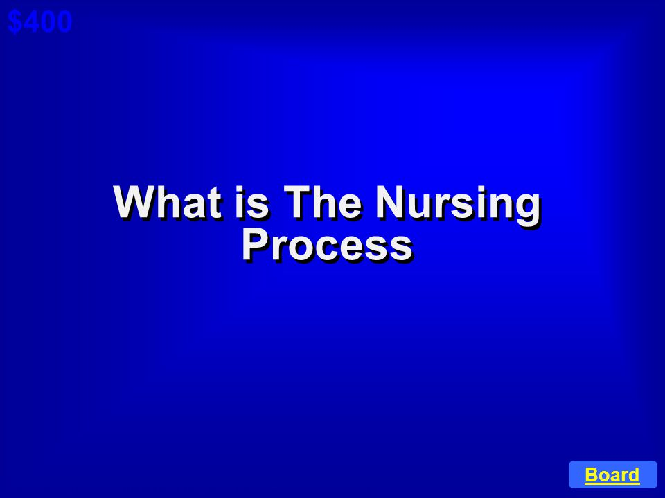 ©Anneliese Garrison, RN BSN CLNC Web Site: www.caring4you.net Remember this process when trying to choose the right answer. $400 Cat 2: $200 A